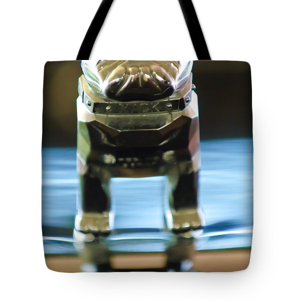 Mack Truck Tote Bag featuring the photograph Mack Truck Hood Ornament 2 by Jill Reger