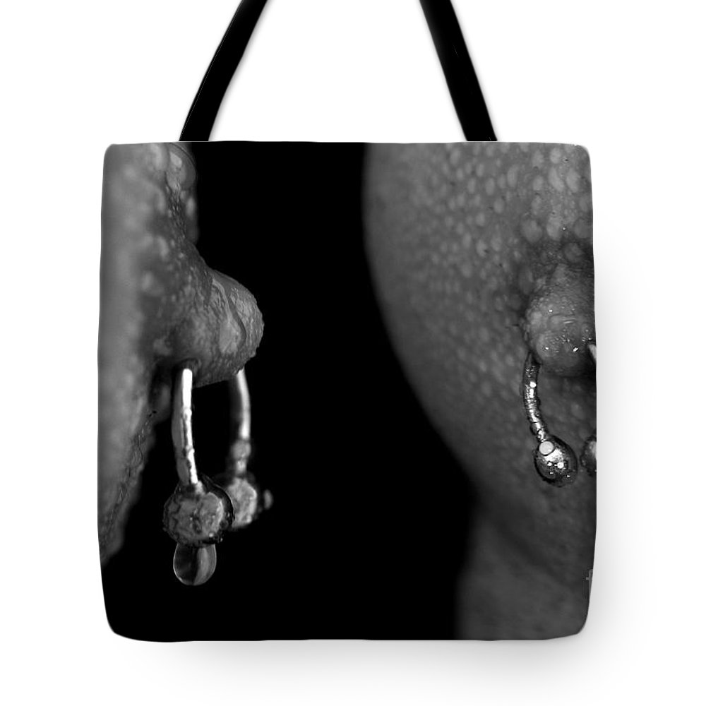 Nude Tote Bag featuring the photograph Macro Nipples by Mark Ashkenazi