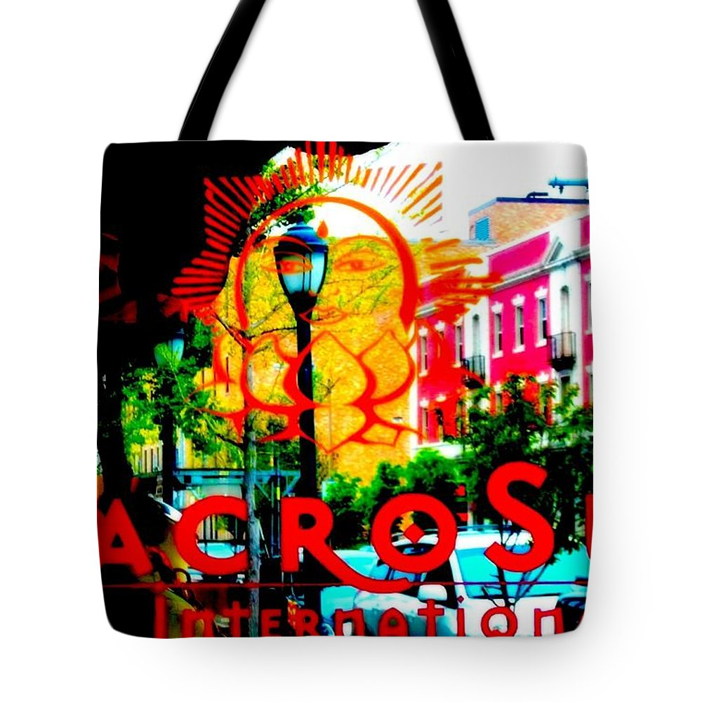 Tote Bag featuring the photograph Macro Sun International by Kelly Awad
