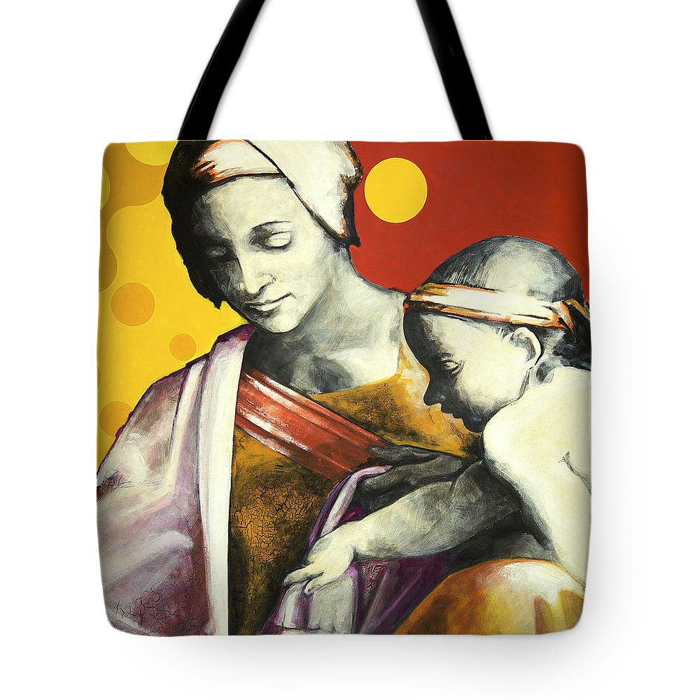 Figurative Tote Bag featuring the painting Madona by Jean Pierre Rousselet