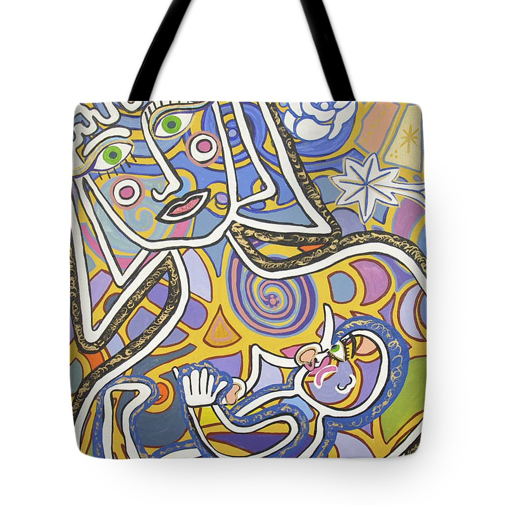 Madre Tote Bag featuring the painting Madre by Claudia Suarez alvez