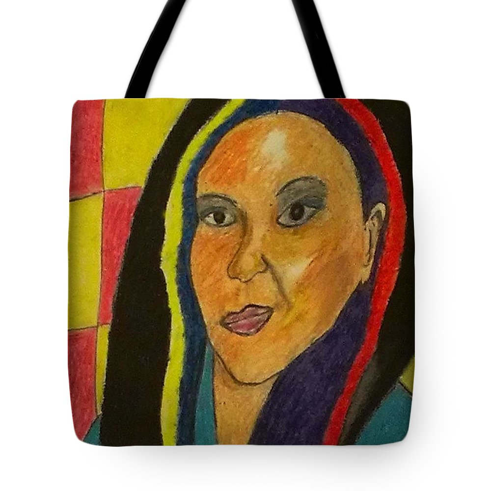 Woman Tote Bag featuring the pastel Mae Mae by Catherine Ratliff