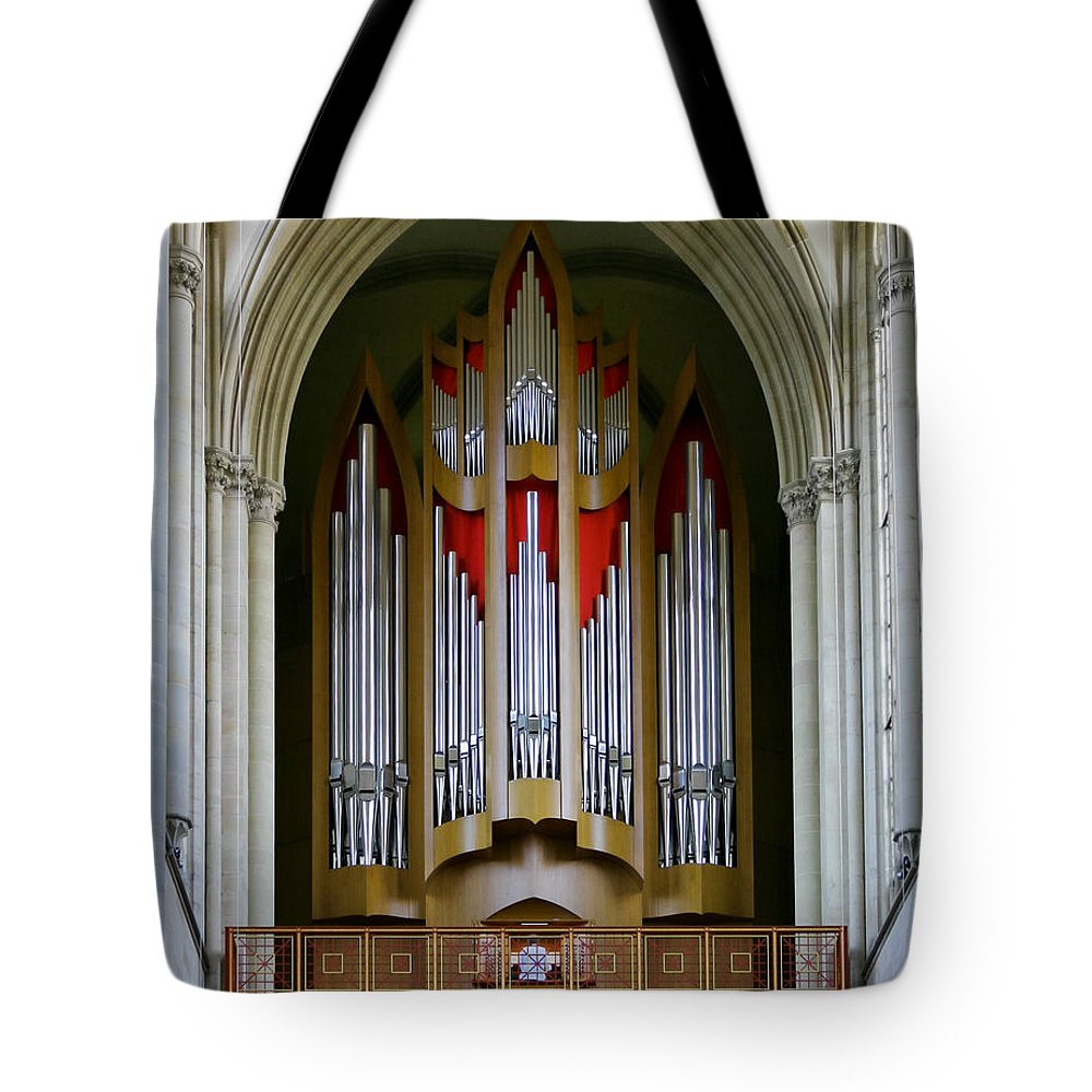 Magdeburg Tote Bag featuring the photograph Magdeburg Cathedral Organ by Jenny Setchell