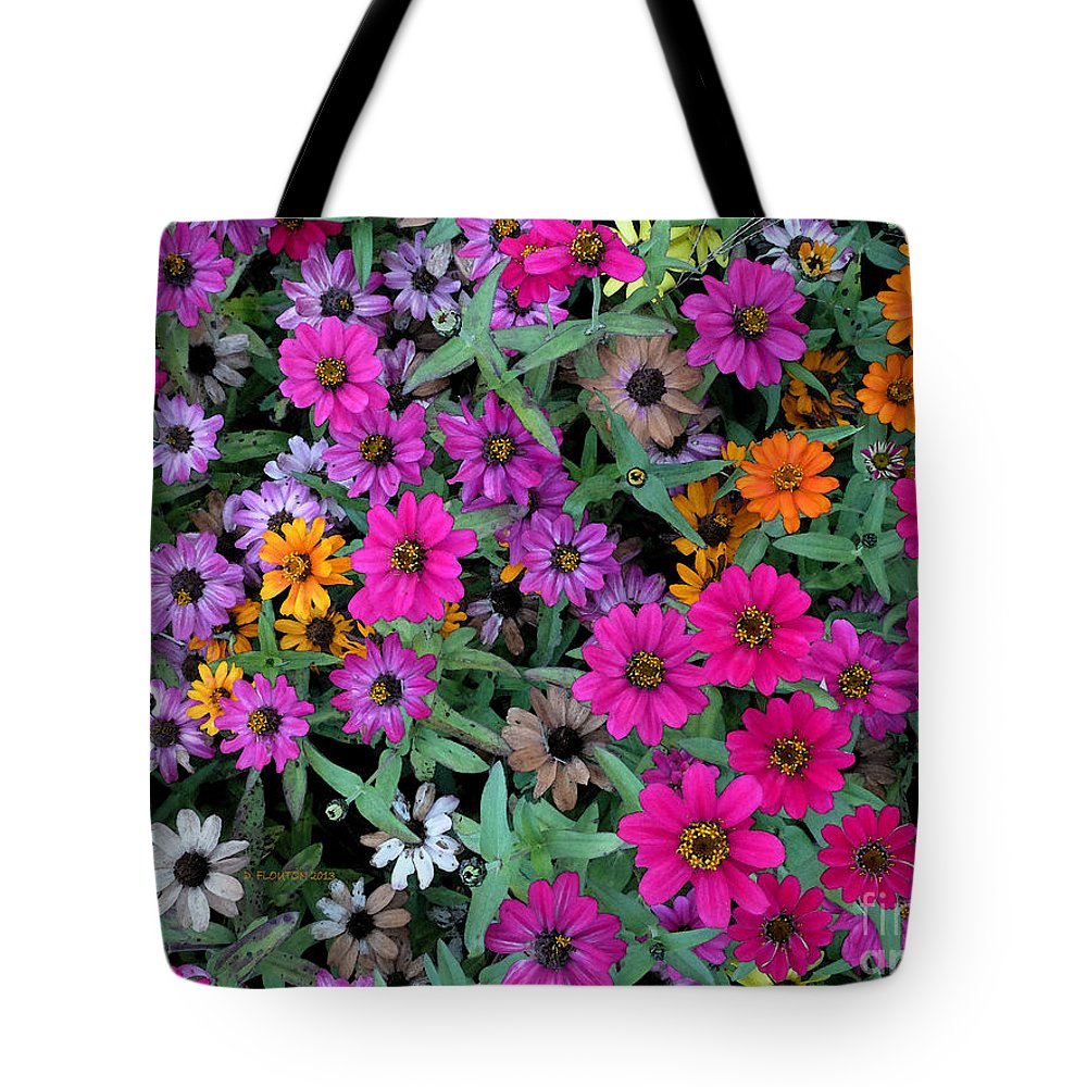 Daisy Tote Bag featuring the photograph Magenta Daisies by Dee Flouton