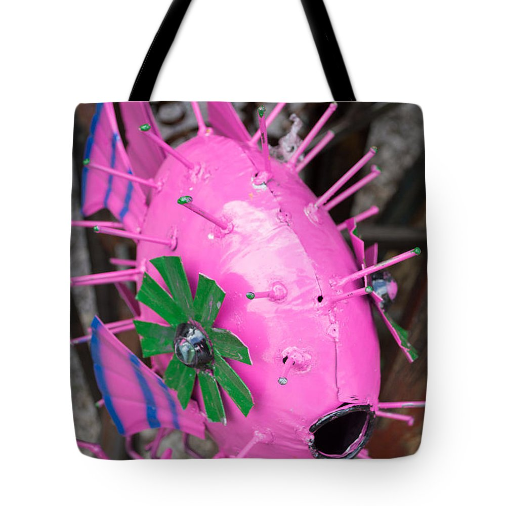 Wimberley Tote Bag featuring the photograph Wimberley Texas Magenta Delight by JG Thompson