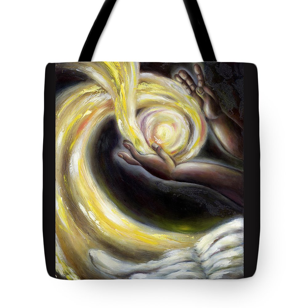 Angel Tote Bag featuring the painting Magic by Hiroko Sakai