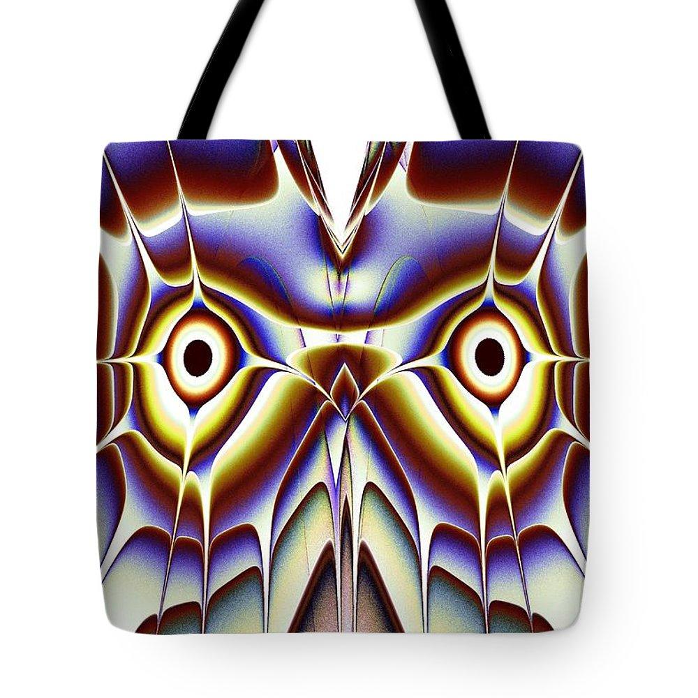 Computer Tote Bag featuring the digital art Magic Owl by Anastasiya Malakhova