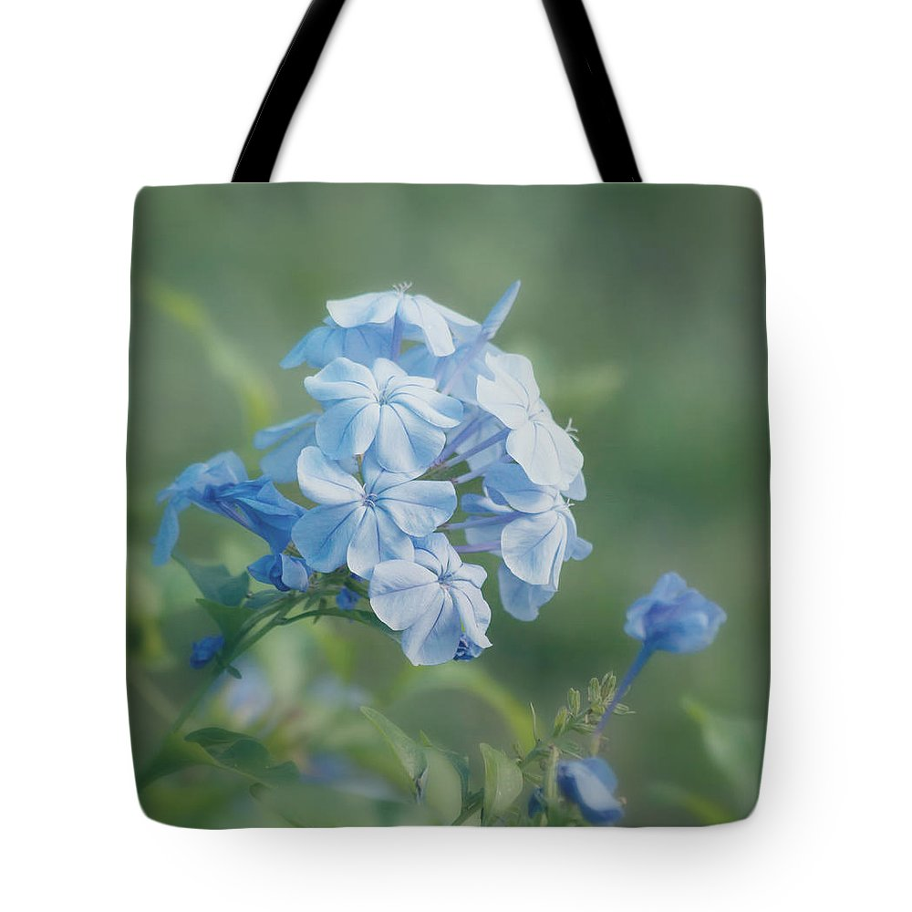 Flower Tote Bag featuring the photograph Magical Blues by Kim Hojnacki