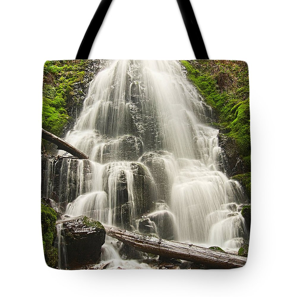 Fairy Falls Tote Bag featuring the photograph Magical Falls - Fairy Falls In The Columbia River Gorge Area Of Oregon by Jamie Pham