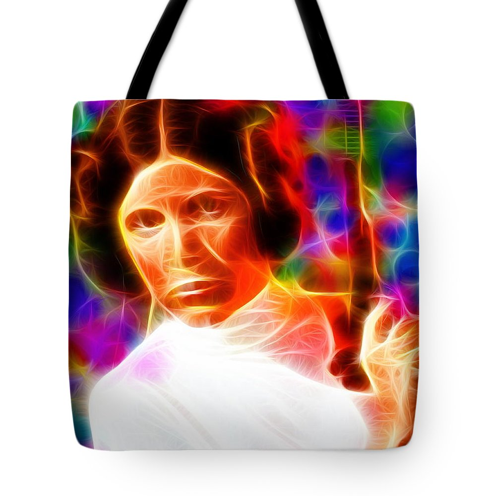 Princess Leia Tote Bag featuring the painting Magical Princess Leia by Paul Van Scott