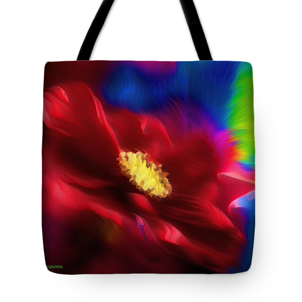 Abstract Tote Bag featuring the painting Magical Rose by Georgiana Romanovna