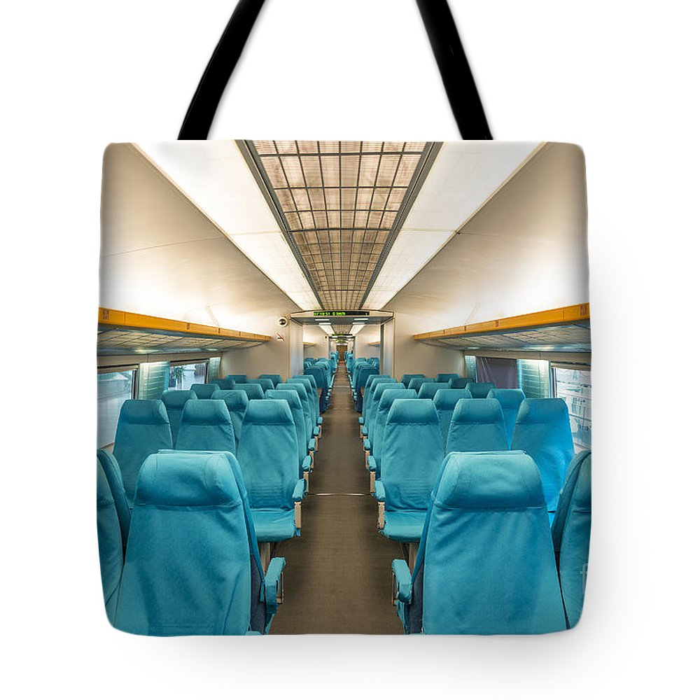 Asia Tote Bag featuring the photograph Maglev Train In Shanghai China by Jacek Malipan