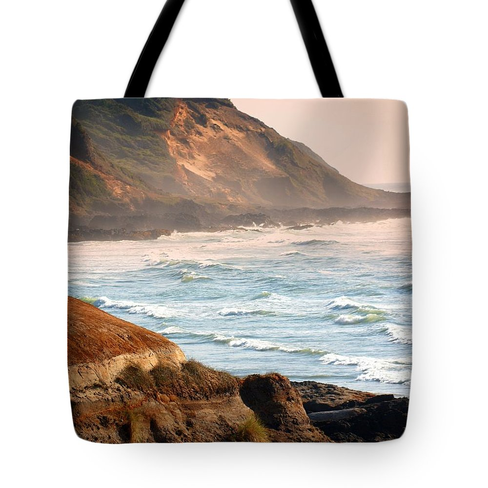 Beach Tote Bag featuring the photograph Magnificent Coast by Marty Koch