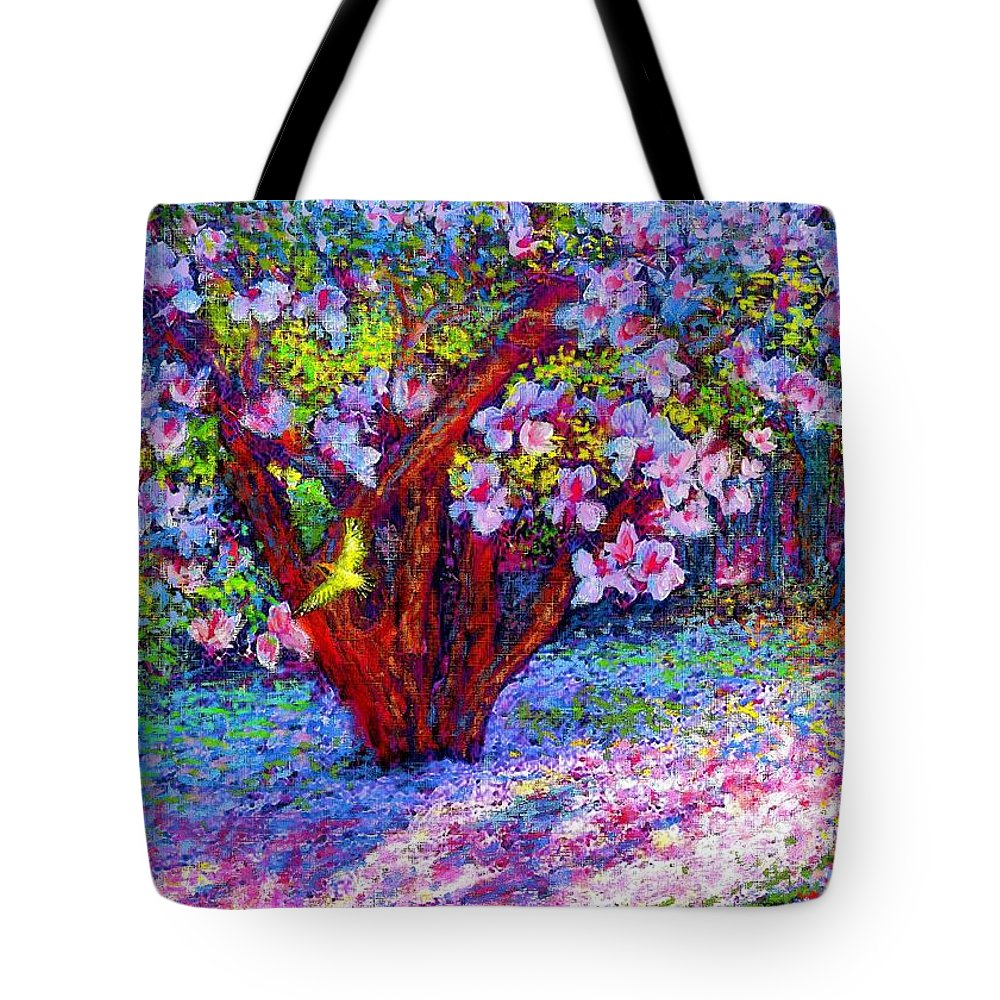 Sun Tote Bag featuring the painting Magnolia Melody by Jane Small