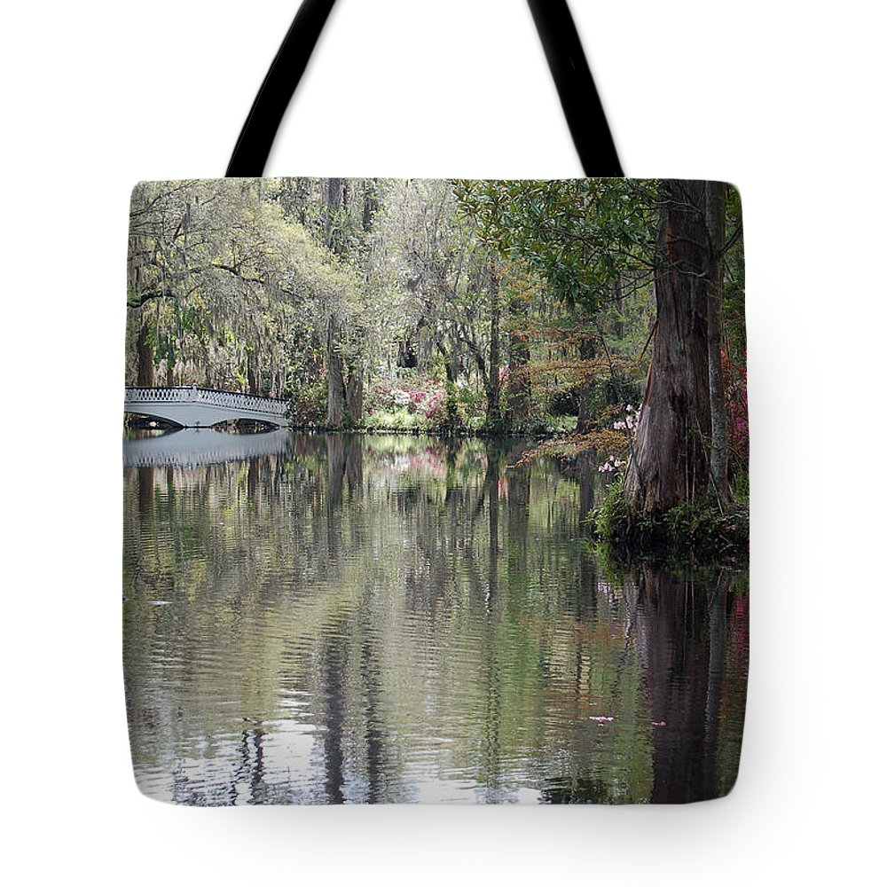 Magnolia Plantation Garden Tote Bag featuring the photograph Magnolia Plantation Gardens Series II by Suzanne Gaff