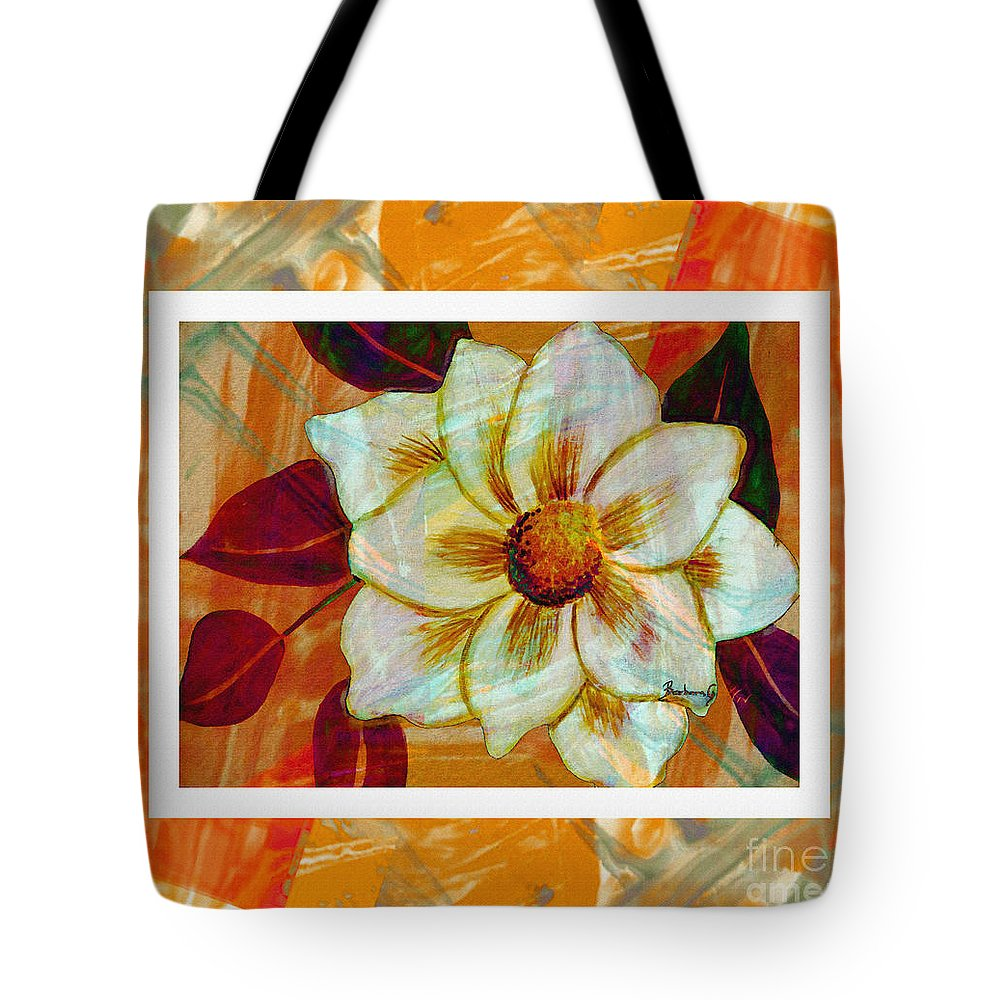 Magnolia Seduction Tote Bag featuring the digital art Magnolia Seduction by Barbara Griffin