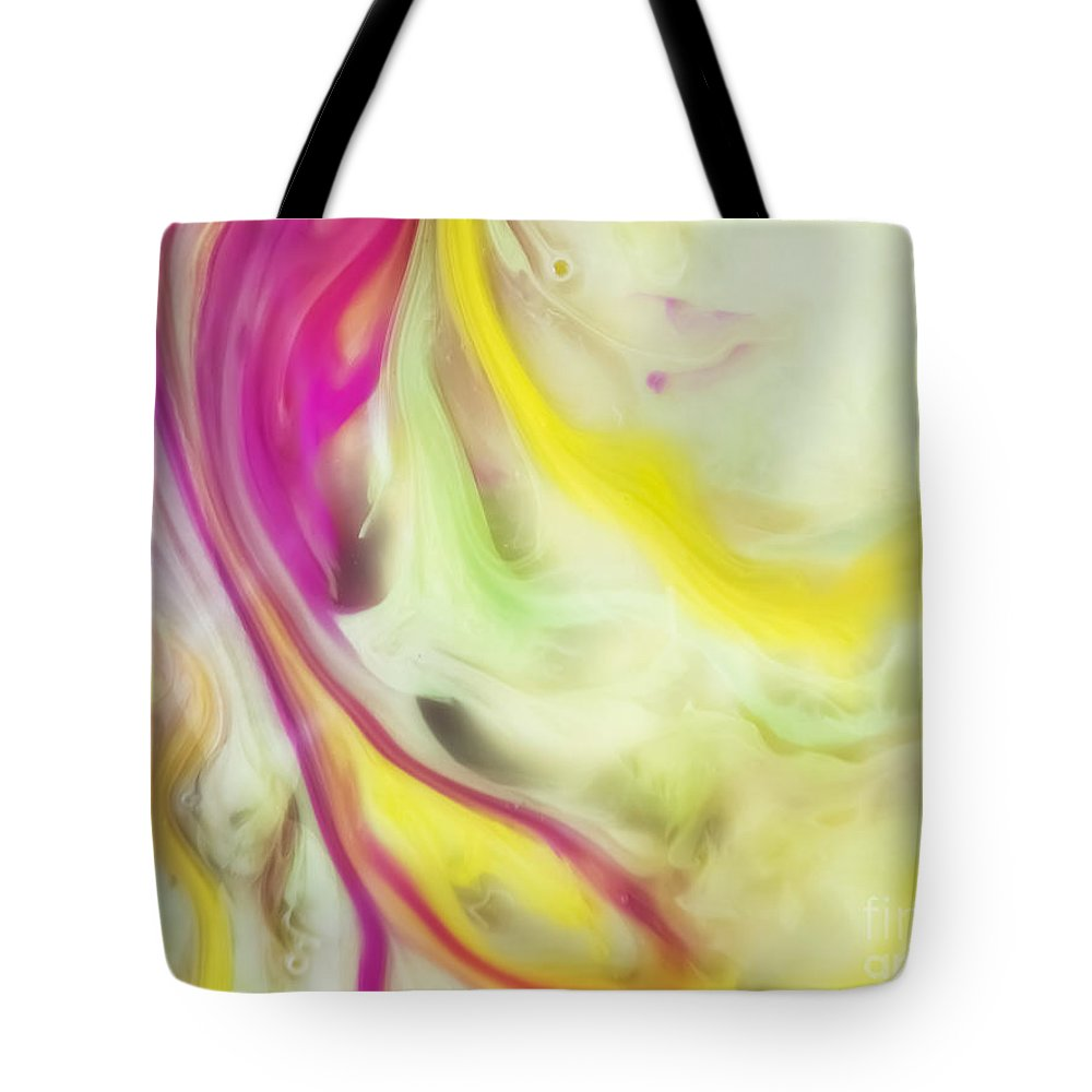 Watercolor Paintings Tote Bag featuring the painting Magnolia Watercolor Abstraction Painting by Justyna JBJart