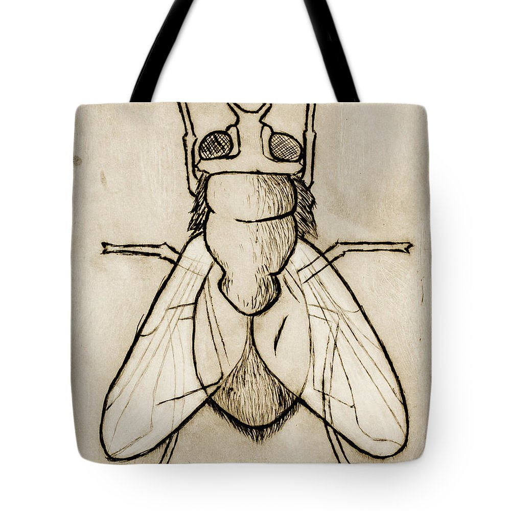Fly Tote Bag featuring the painting Magnum by Stefanie Forck