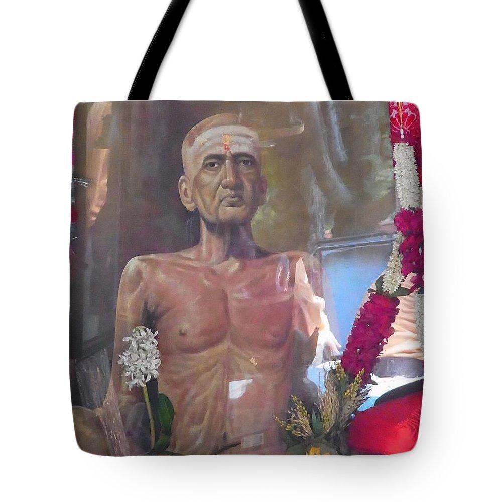 Tapovan Kutir Tote Bag featuring the photograph Maha Samadhi Day by Agnieszka Ledwon