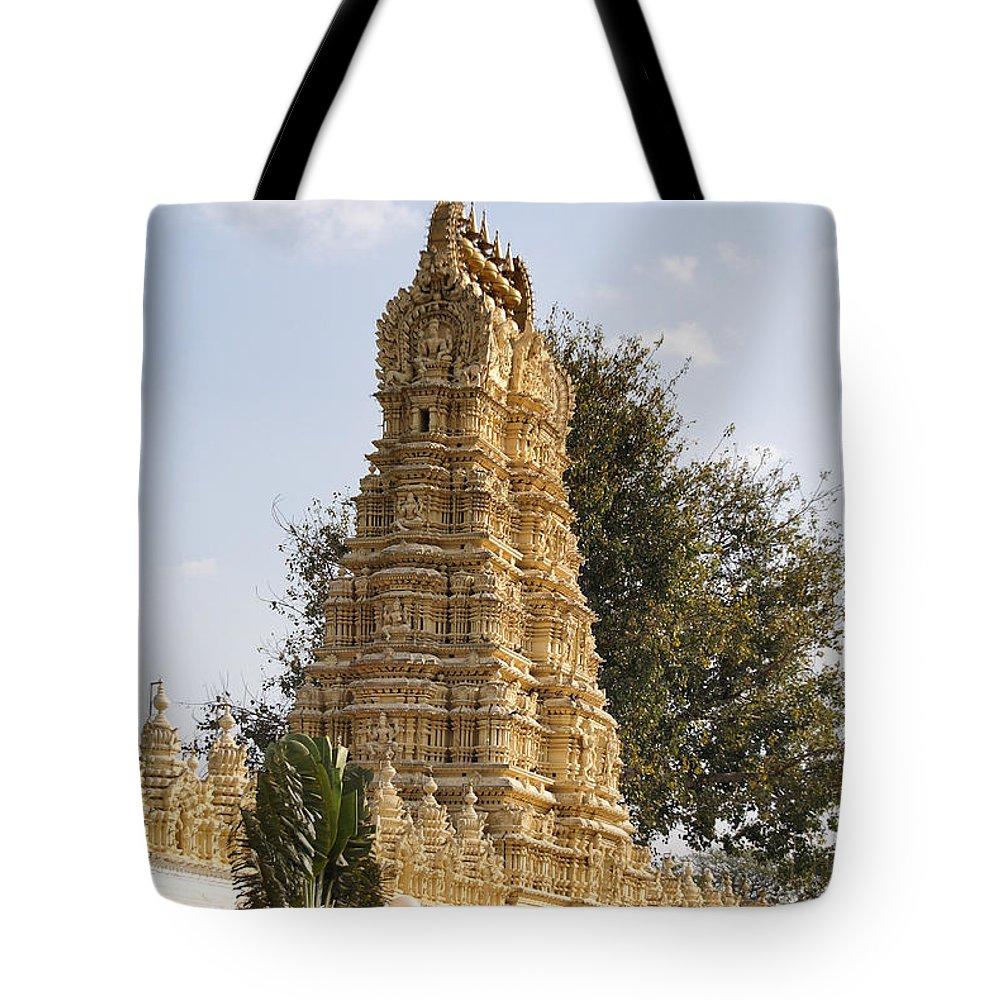 India Tote Bag featuring the digital art Maharaja's Palace India Mysore by Carol Ailles