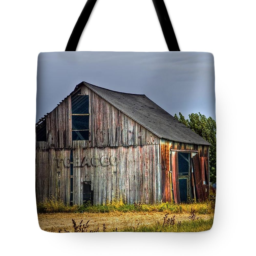 Agriculture Tote Bag featuring the photograph Mail Pouch by Sharon Meyer