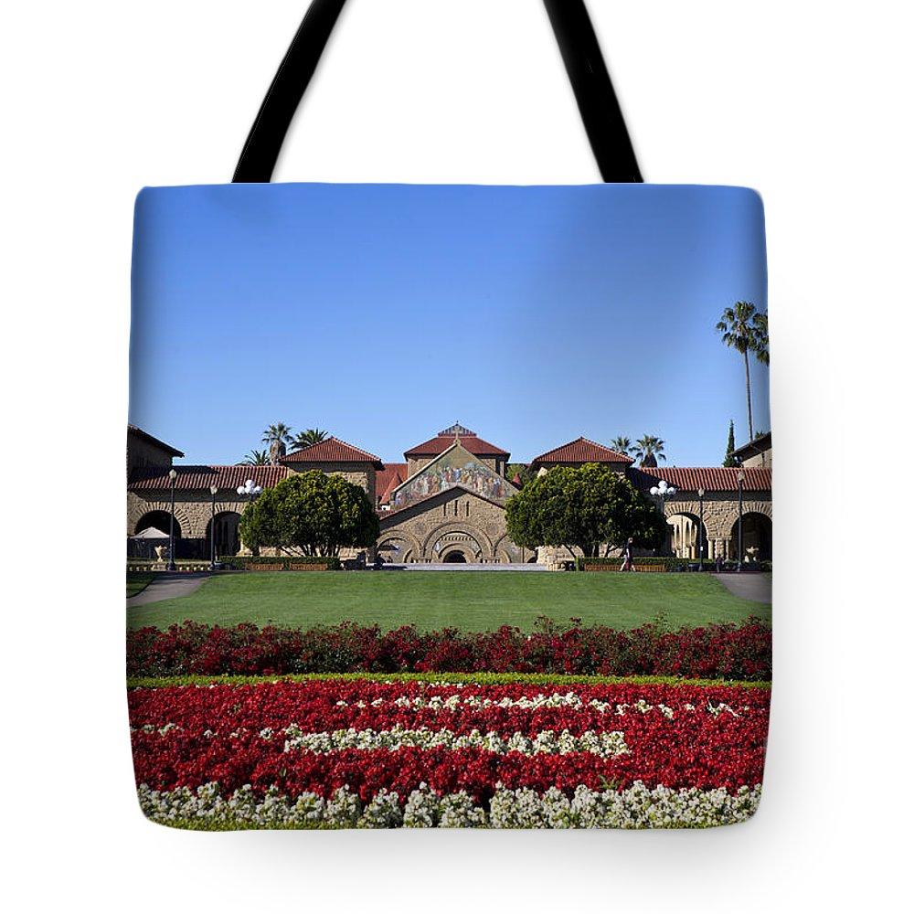 Stanford University Tote Bag featuring the photograph Main Quad Stanford California by Jason O Watson