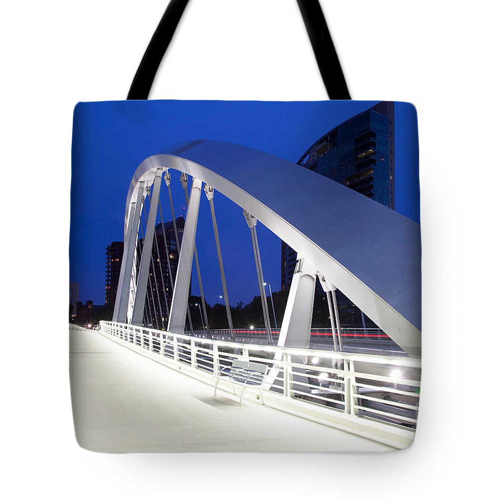 Columbus Tote Bag featuring the photograph Main Street Bridge by Bill Cobb