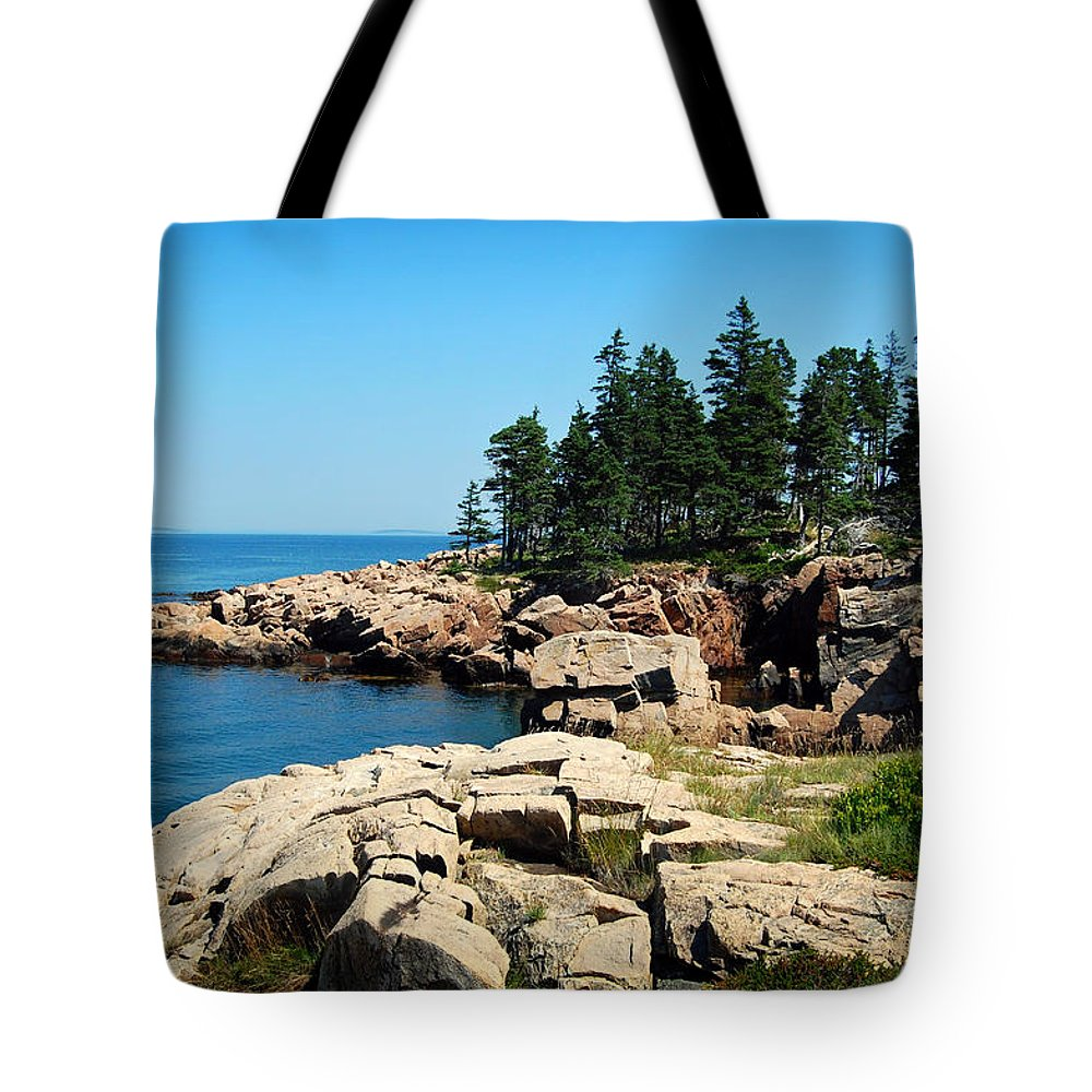 Maine Tote Bag featuring the photograph Maine's Rocky Coastline by Mountain Dreams