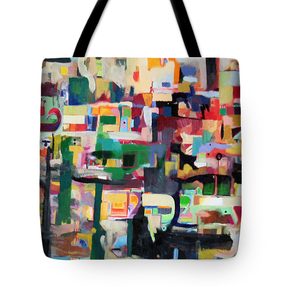 Torah Tote Bag featuring the painting Mainstay And Assurance Of The Righteous 3 by David Baruch Wolk