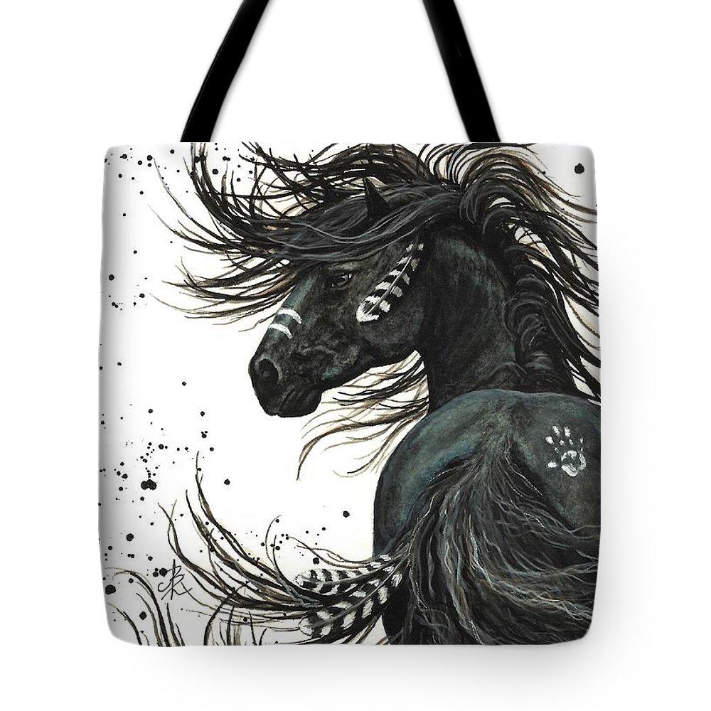 Black Horse Tote Bags