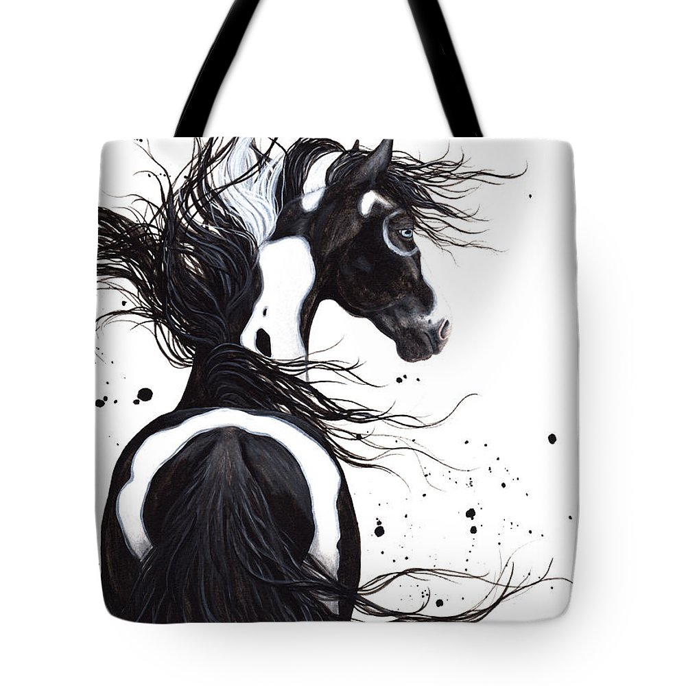 Pintom Paint Tote Bag featuring the painting Majestic Pinto Horse by AmyLyn Bihrle