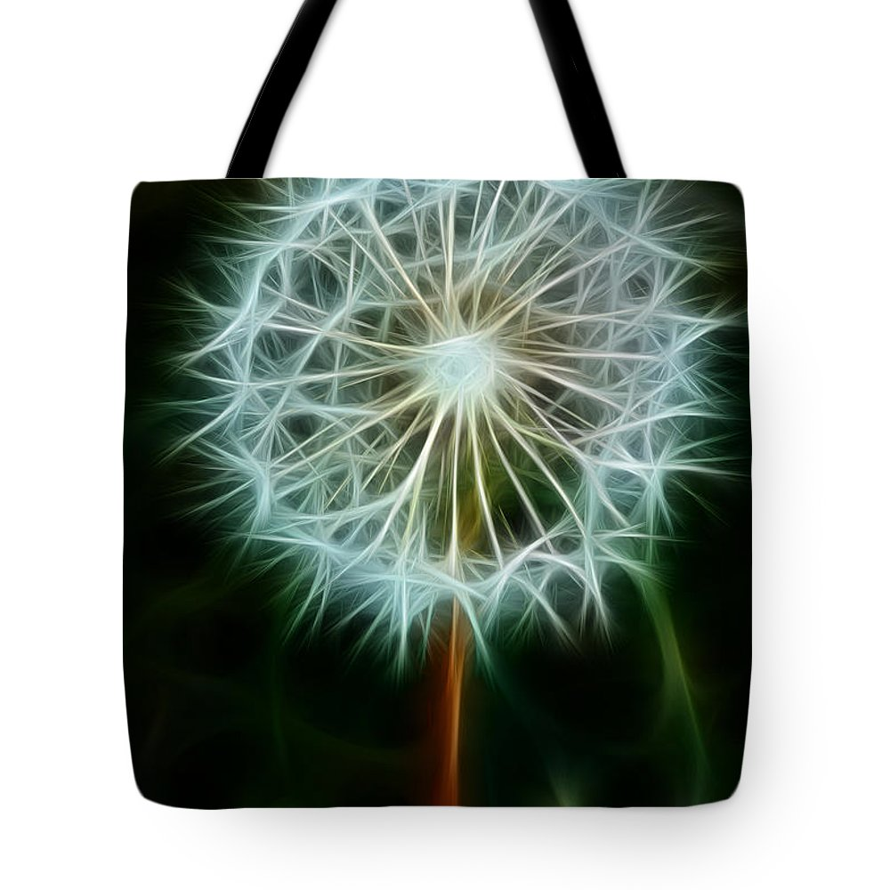 Dandelion Seeds Tote Bag featuring the photograph Make A Wish by Joann Copeland-Paul