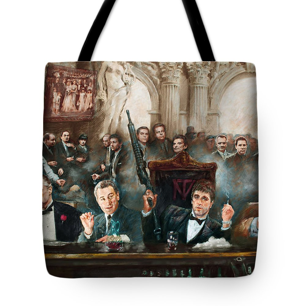 James Mixed Media Tote Bags