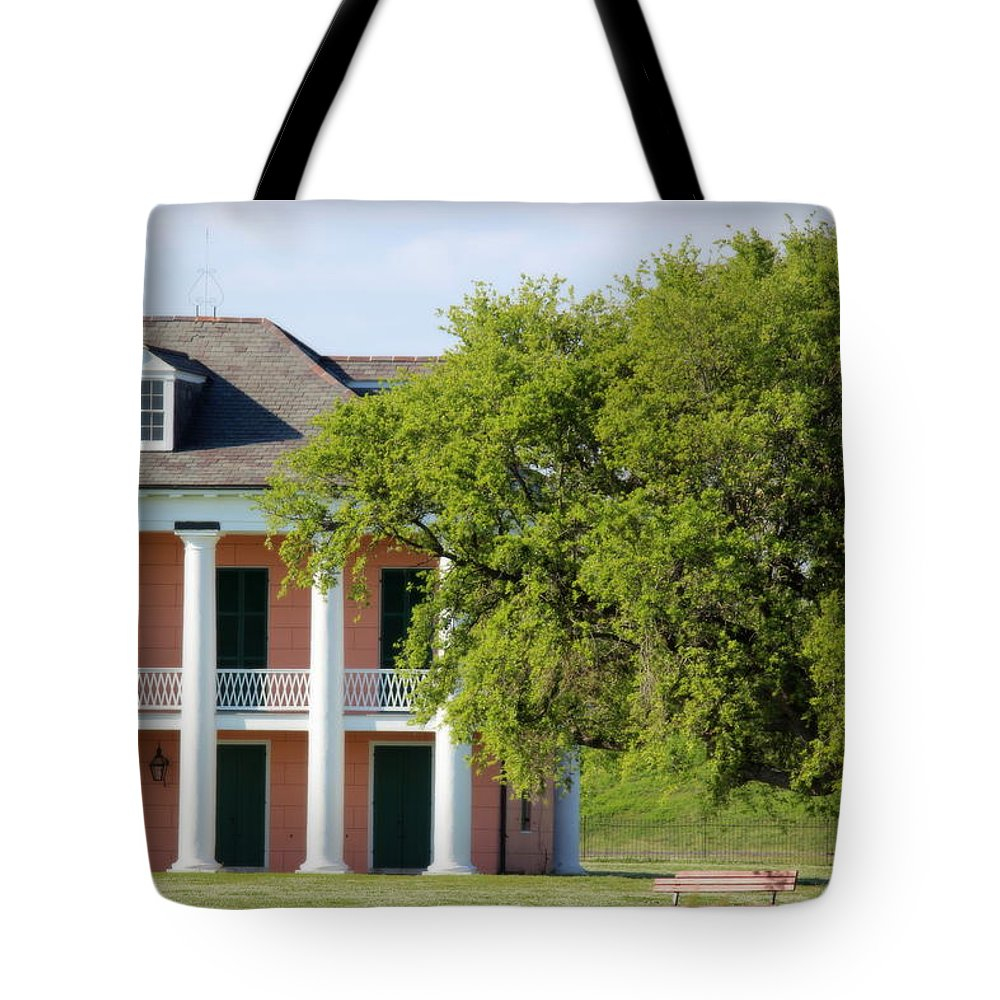 Malus-beauregard House Tote Bag featuring the photograph Malus Beauregard House by Beth Vincent