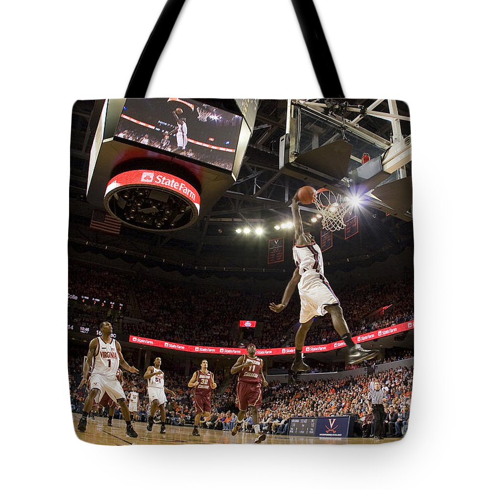 Athletics Tote Bag featuring the photograph Mamadi Diane Dunk Against Boston College by Jason O Watson