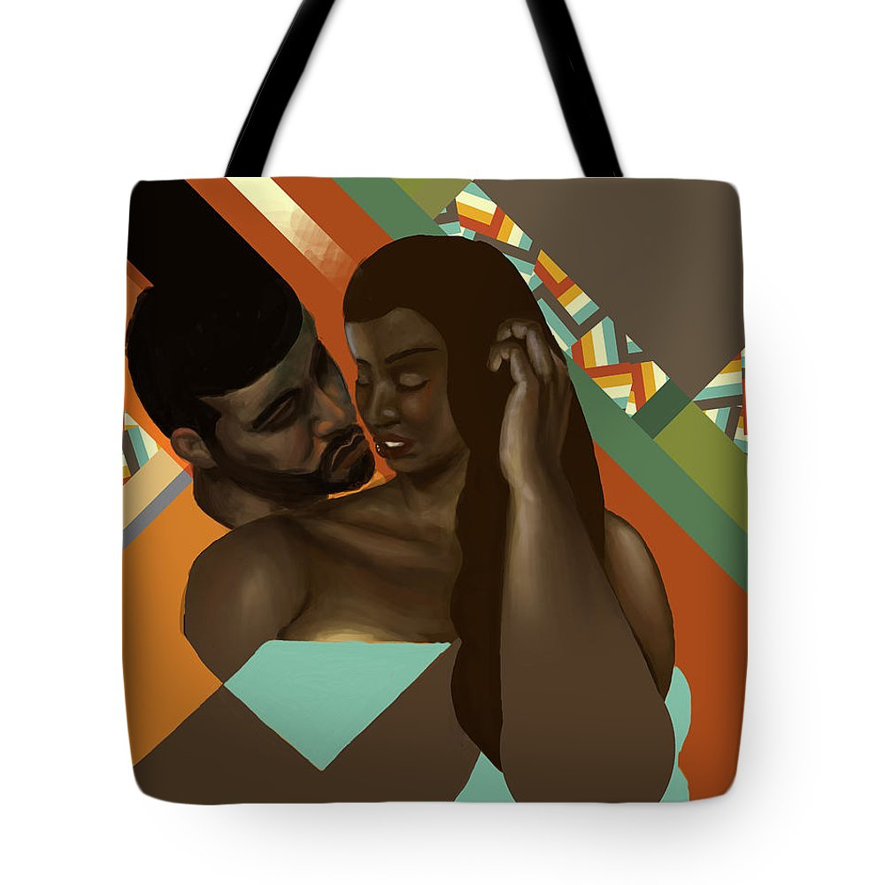 Love Tote Bag featuring the digital art Man And Woman by David James