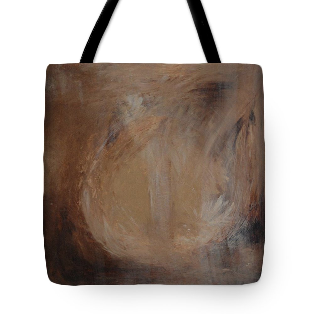 Autumn Tote Bag featuring the painting Man Who Disappears by Sirenes