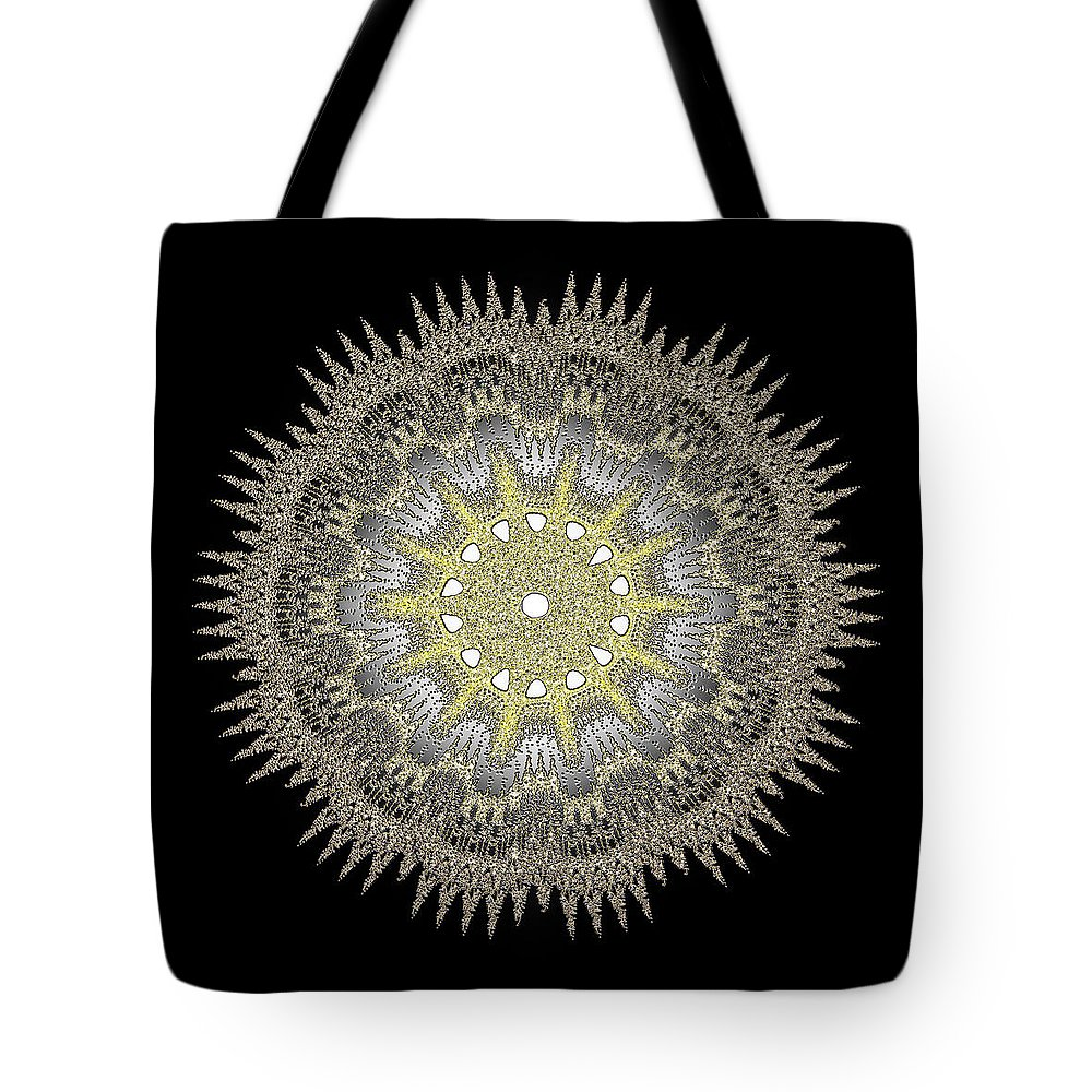 Hotel Tote Bag featuring the digital art Mandala 1 by Jack Bowman