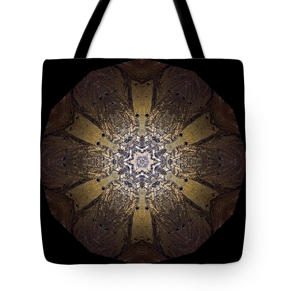 Mandala Tote Bag featuring the photograph Mandala Sand Dollar At Wells by Nancy Griswold
