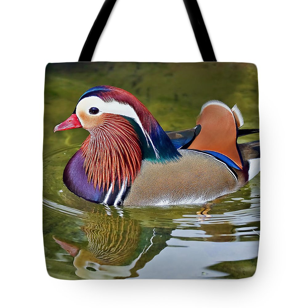 Fowl Tote Bag featuring the photograph Mandarin Duck by Marcia Colelli