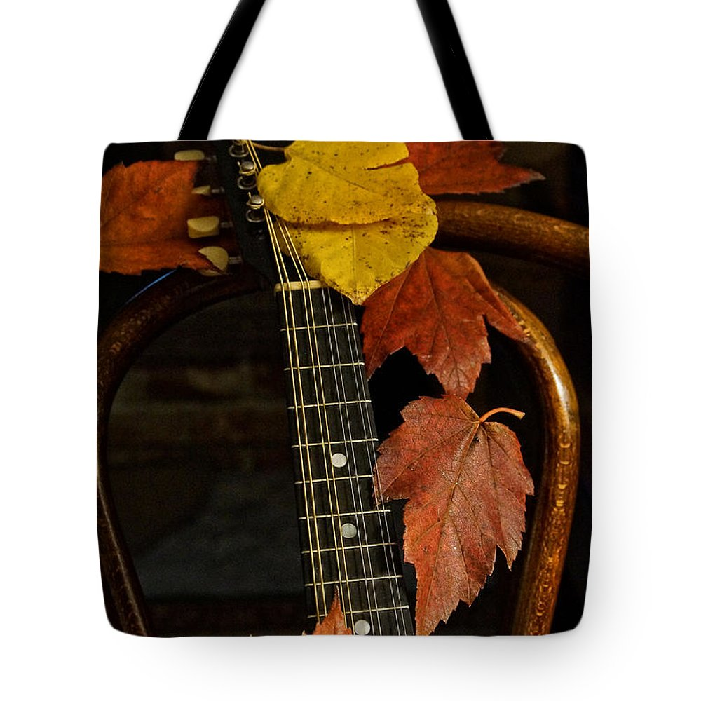 Mandolin Tote Bag featuring the photograph Mandolin Autumn 1 by Mick Anderson