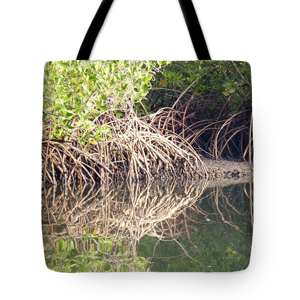 Mangrove Creek Tote Bag featuring the photograph Mangroves In The Gambia by Tony Murtagh