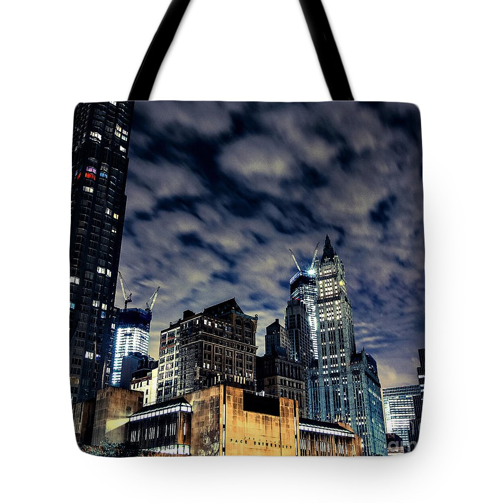 Streets Of New York Tote Bag featuring the photograph Manhattan Bound Version A by Digital Kulprits