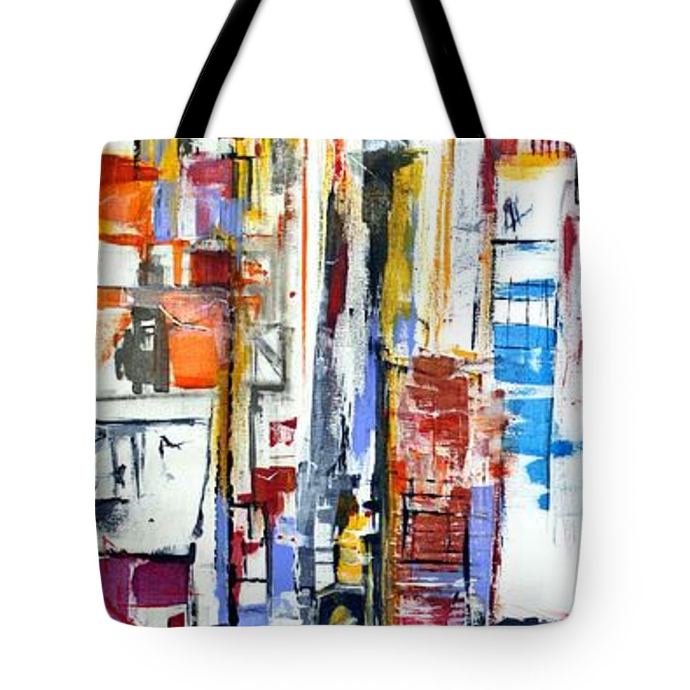 Art Tote Bag featuring the painting Manhattan Morning by Jack Diamond