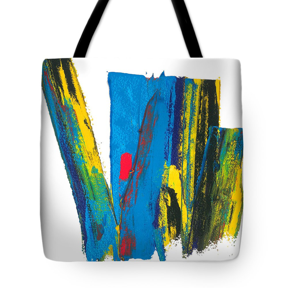 Contemporary Tote Bag featuring the painting Manhattan Skyline by Bjorn Sjogren