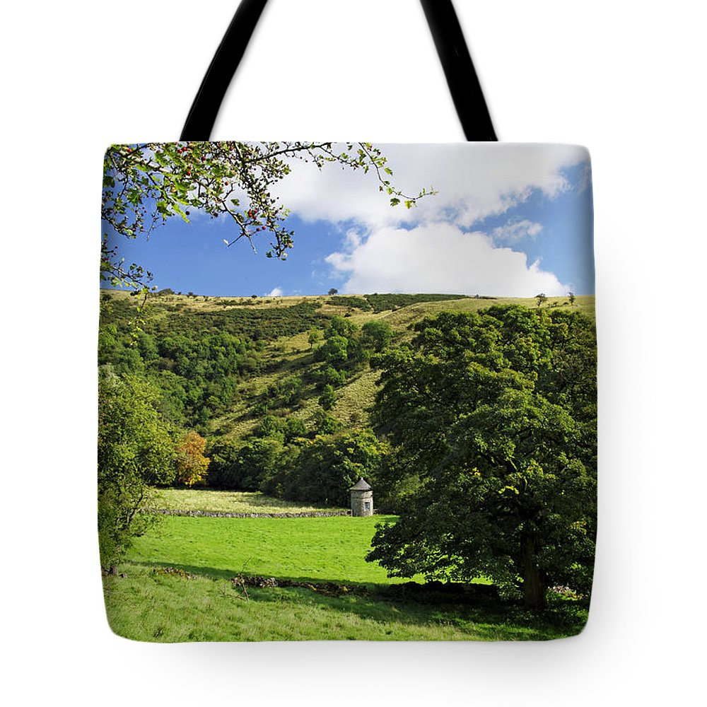 Bright Tote Bag featuring the photograph Manifold Valley And Dovecote - Swainsley by Rod Johnson