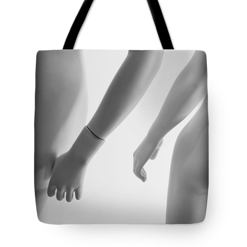 Montone Tote Bag featuring the photograph Mannequin Couple by Melinda Fawver