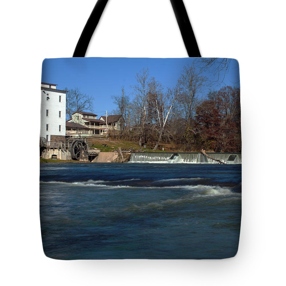 Mansfield Mill Tote Bag featuring the photograph Mansfield Mill by Thomas Sellberg