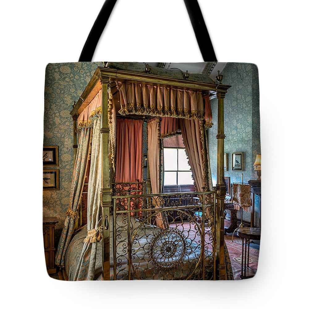British Tote Bag featuring the photograph Mansion Bedroom by Adrian Evans
