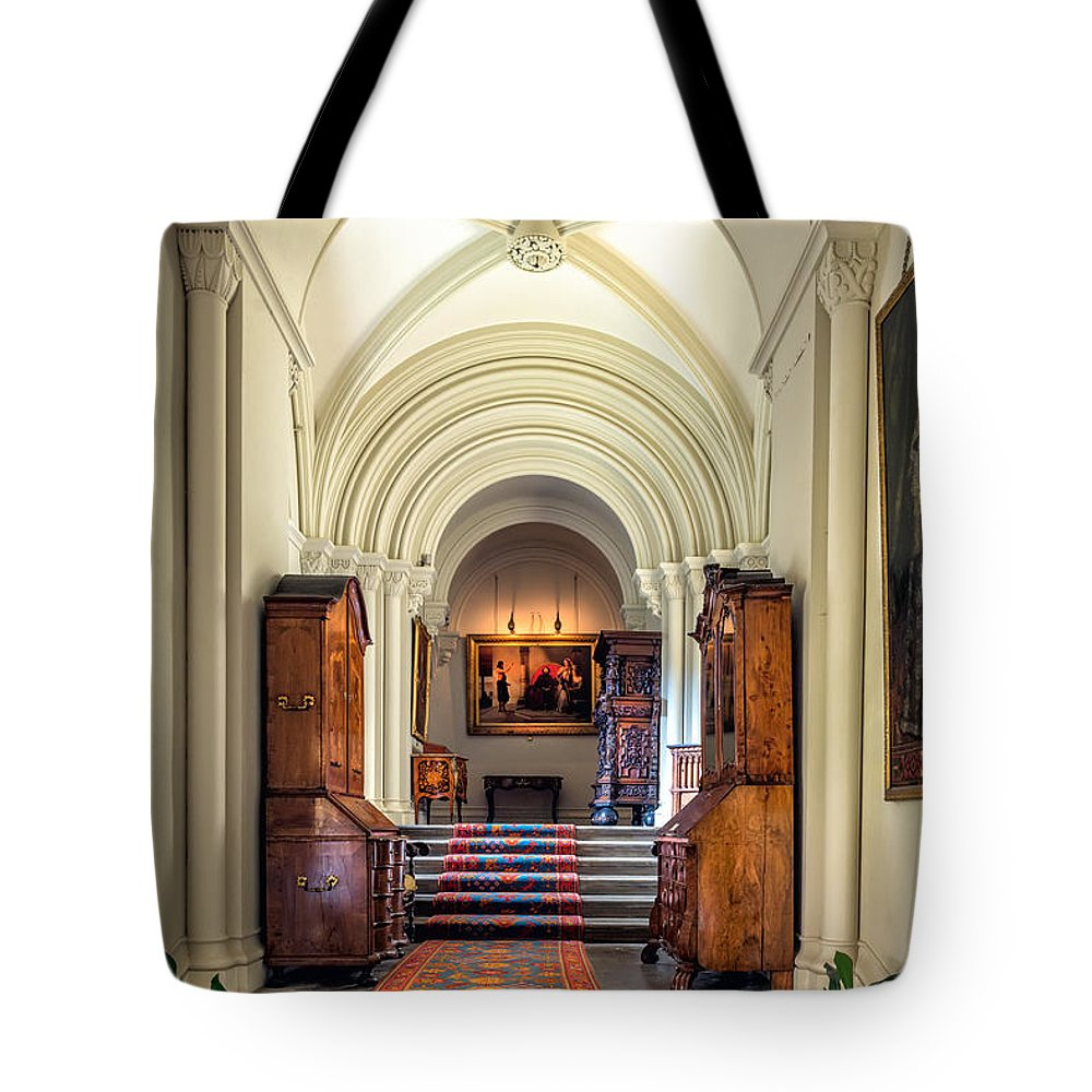 British Tote Bag featuring the photograph Mansion Hallway IIi by Adrian Evans